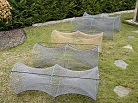 Catfish hoop net with glasfiber stay